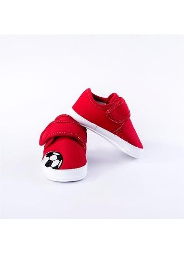 First Step Futbol Topu Desenli Ayakkabı Yeşil Kırmızı